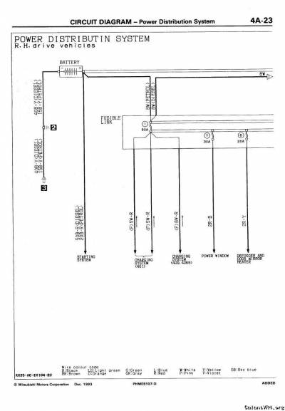 Wiring Diagram for EvoIII Ecu   Galant VR-4 > Technical Discussions   GalantVR-4.org Mitsubishi ...